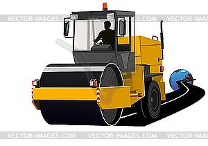 Asphaltierung von Straßen - Vektor-Clipart