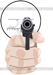 Hand mit einer Pistole - Vector-Clipart EPS