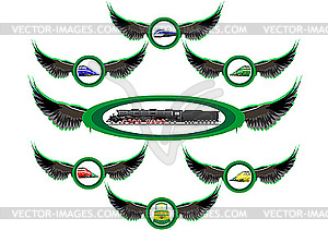 Eisenbahn-Embleme - Vector Clip Art