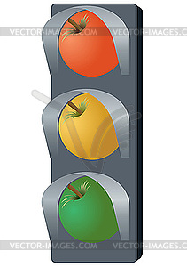 Frucht-Ampel - Royalty-Free Clipart
