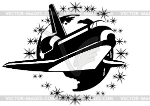 Raumfahrzeug - Vector-Illustration