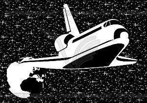 Raumsonden im Weltraum - Vektor-Clipart / Vektorgrafik