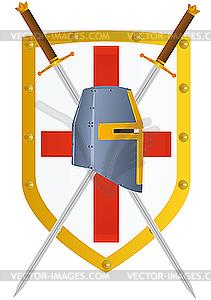 Schwert und Schild - Vektor-Illustration