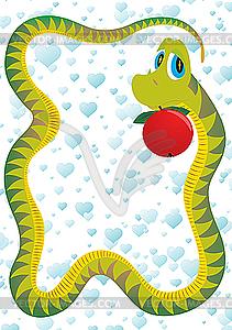 Schlange Versucher - Vector-Abbildung