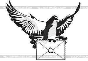 Taube mit einem Brief - Clipart