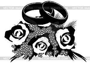 Bouquet von Trauringen - Vector-Design