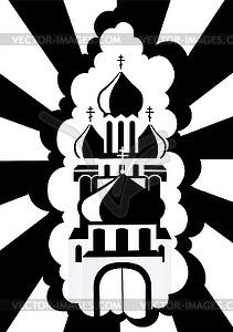 Die orthodoxe Kirche - Vektorgrafik