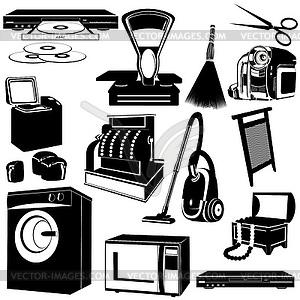 Haushaltsgeräte stock vektor clipart