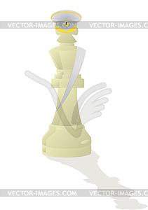 Weißer König Schach - Allgemeines - vektorisierte Grafik