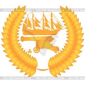 Schiffsartillerie - Vector Clip Art