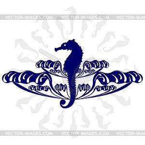 Seepferdchen im Meer - Vector-Design