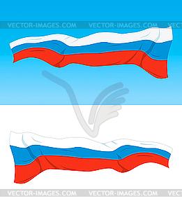 Russische Flagge - Vektor-Clipart