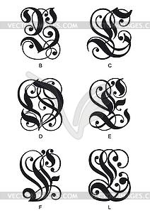 Gotischen Buchstaben Initialen - Vektorgrafik-Design
