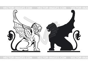 Schwarze und weiße Greife - Clipart-Bild
