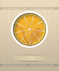 Orange Frucht Postkarte - Vector-Clipart EPS