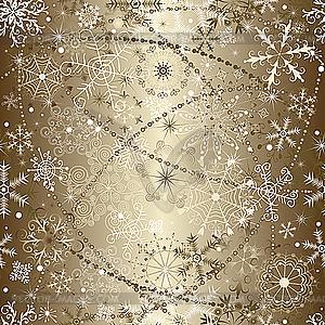 Weihnachtshintergrund von Schneeflocken - Vektor-Design