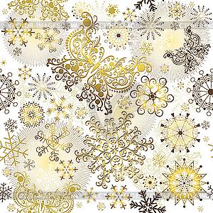 Goldenes Weihnachtsmuster - Clipart-Design