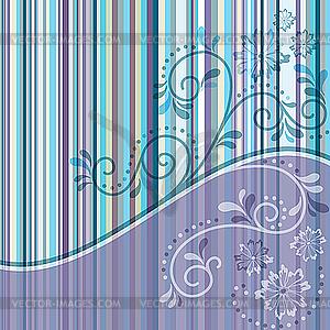 Gestreiftes Muster mit Schnörkeln - Stock Vektor-Clipart