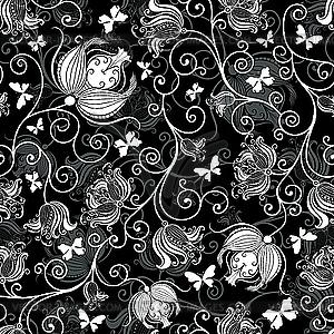 Черно серебристый узор