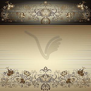 Goldener Vintage Oster-Rahmen - Vektorgrafik-Design