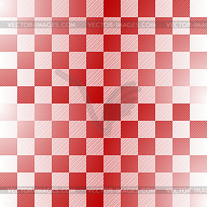 Seamless red-white checkered pattern - vector image