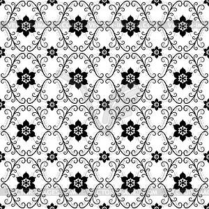 Weiß-Schwarz Jahrgang nahtlose Muster - Vektorgrafik-Design
