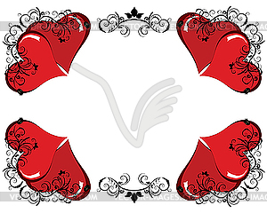 Valentinstag-Rahmen - Vektor-Clipart