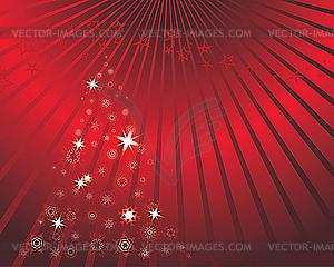 Weihnachtskarte mit Tanne - Vektor-Design