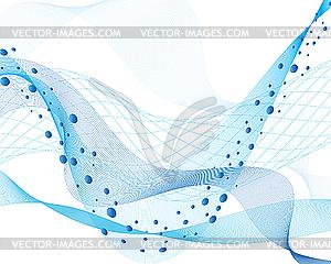 Wasserwellen und Blasen - Stock Vektor-Clipart