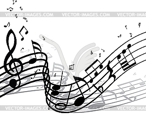 Hintergrund von Musiknoten - Stock Vektor-Bild