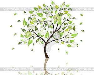 Blütender Baum - Vector-Design