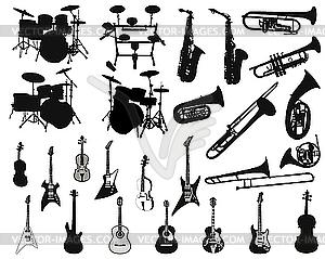 Set von Musikinstrumenten - Klipart