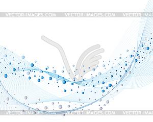 Hintergrund von Wasserblasen - vektorisiertes Design