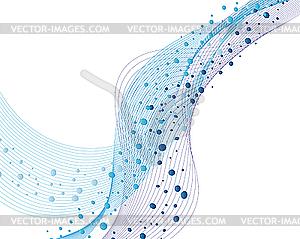 Hintergrund von Wasserblasen - Vector-Clipart