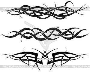 Set von Tattoos - Vector Clip Art