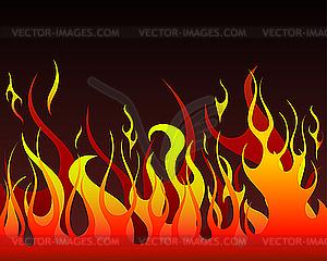 Feuer-Hintergrund - Vector Clip Art