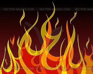 Feuer-Hintergrund - vektorisiertes Clipart