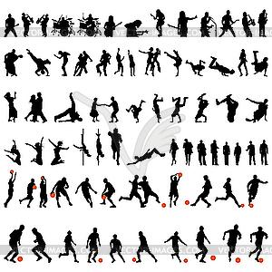 Set - Tanz und Sport - vektorisierte Abbildung