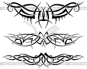 Symmetrische Tattoos - Clipart-Design