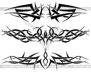 Tribal Tattoo Set - Royalty-Free Clipart