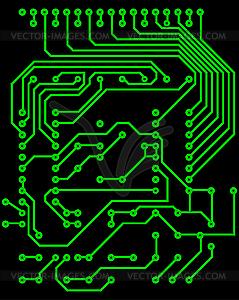 Elektro-Schema - vektorisiertes Clipart