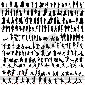 Set von Menschen-Silhouetten - vektorisiertes Bild