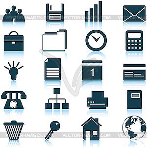 Business-und Office-Symbole Set - vektorisierte Grafik