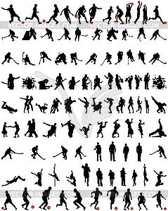 Tanz und Sport - Set von Silhouetten - Clipart-Bild