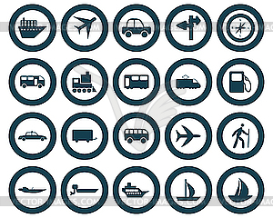 Transport Symbole Set - Vector-Clipart EPS