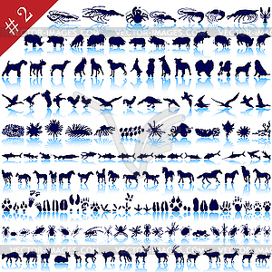 Set von Tier-Silhouetten - Vektor-Clipart