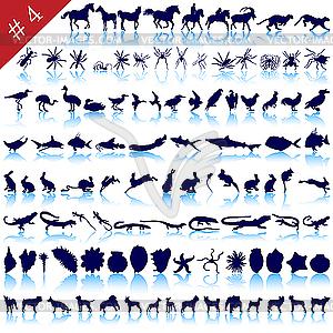 Set von Tier-Silhouetten - Vector-Bild