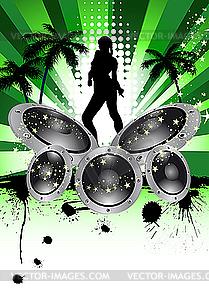 Musikalische Grunge-Hintergrund - Vector-Bild