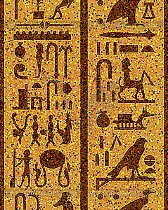 Ägyptische Hieroglyphen nahtlose - Vektor-Design