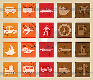 Transport Symbole Set - Vektorgrafik-Design